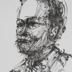 Rysunek Małgorzaty Kulczyk - portret Jacka Bończyka 2013