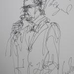Rysunek Małgorzaty Kulczyk - 6 z koncertu Zbigniew Zamachowski i Wojciech Malajkat 2012