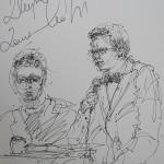 Rysunek Małgorzaty Kulczyk - 9 z koncertu Zbigniew Zamachowski i Wojciech Malajkat 2012