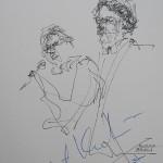 Rysunek Małgorzaty Kulczyk - 7 z koncertu Doroty Osińskiej i Roberta Kowalskiego 2012