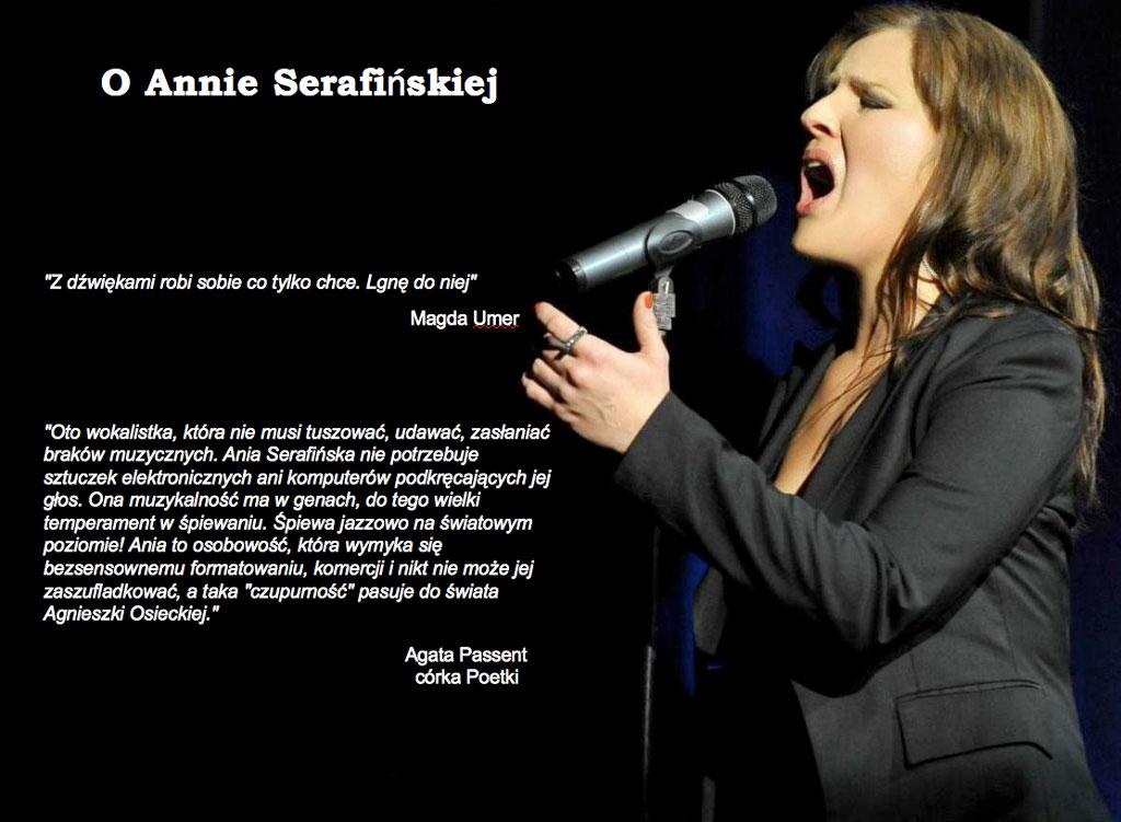 A. Serafinska z mikrofonem