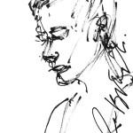 Rysunek Małgorzaty Kulczyk - 4 z koncertu Ewy Błaszczyk 2013