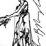 Rysunek Małgorzaty Kulczyk - 5 z koncertu Ewy Błaszczyk 2013