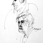 Rysunek Małgorzaty Kulczyk - 6 z koncertu Olgierda Łukaszewicza 2013