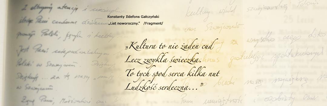 Fragment wiersza K.I. Gałczyńskiego o kulturze