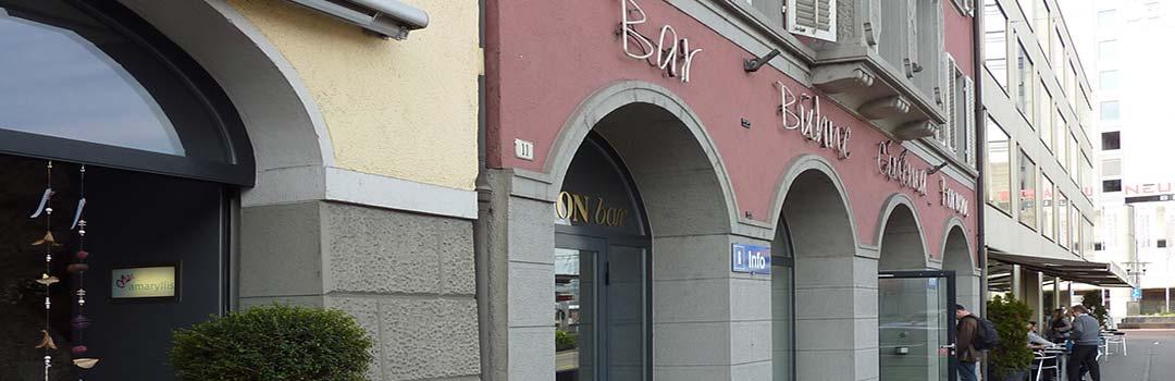 Drugie zdjęcie kina ODEON w Bruggu, gdzie odbywaja sie występy Gości Klubu.