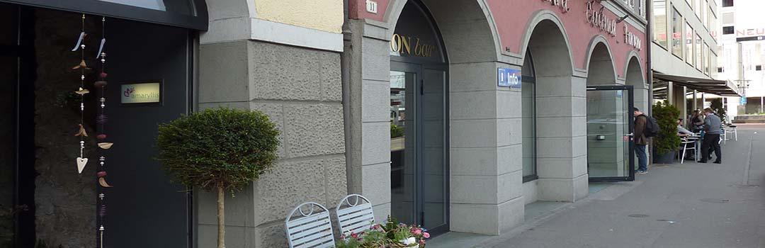 Trzecie zdjęcie kina ODEON w Bruggu, gdzie odbywaja sie występy Gości Klubu.